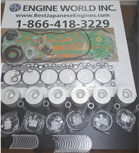 Isuzu 6BG1 6.5ltr engine rebuild kit - Gaskets, Liners, Pistons, piston rings, bearings, Crankshaft
